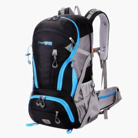 - Free Knight 45L Backpack Capacity For Outdoor Adventure Lightweight Zip Pockets
