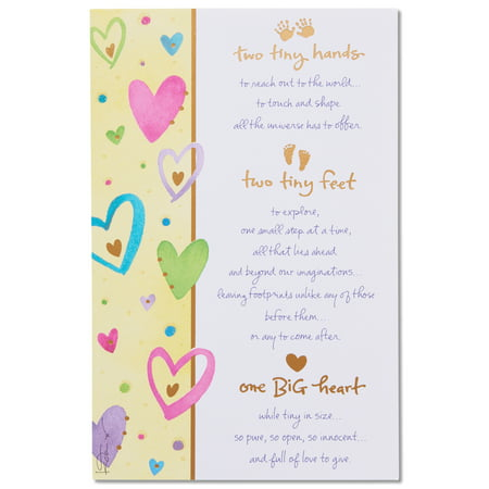 new baby congratulations card with foil