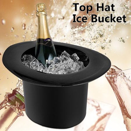 Bar Party Top Hat Cap Shaped Ice Bucket 1.2L For Champagne Wine Bottle Drinking Cooler (Styrofoam Ice Buckets For Parties)