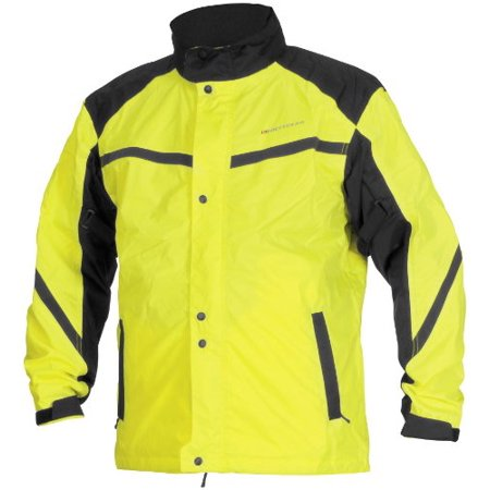 Firstgear Sierra Day Glo Jacket, Distinct Name: DayGlo, Primary Color: Yellow, Size: Md, Gender: Mens/Unisex, Apparel Material: Textile - Distinctive Apparel Inc