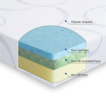 GranRest 9 Inch HD I-Gel Memory Foam Mattress, Multiple Sizes