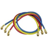 YELLOW JACKET 21985 Manifold Hose Set,60 In,Red,Yellow,Blue