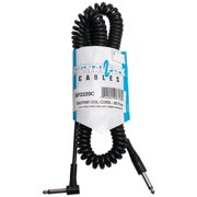 Signal Flex SF2220C-U 20 ft. Coiled Black Cable with Molded Ends