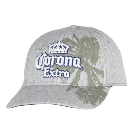 Corona Extra Beer Hat Embroidered Logo Grey Adult Snapback (Corduroy Embroidered Cap)
