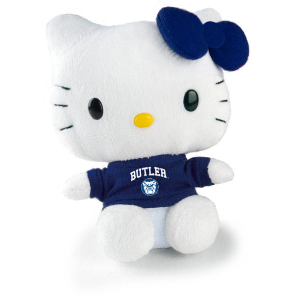 Hello Kitty Goes to College Indianapolis Butler University Bulldogs Plush Toy by Plushland