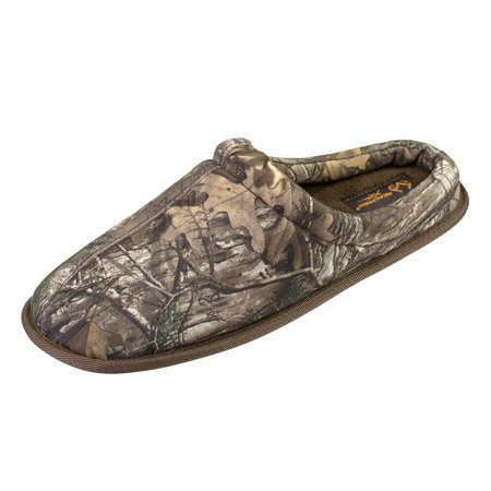 Realtree Men's Camo Slipper in 900D Nylon X-Tra Mini Camo Print, Clog Slipper with Soft Lining, Indoor/Outdoor Sole Iowa Soft Slippers