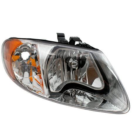 Voyager Headlight Set - BROCK Headlight Headlamp Passenger Replacement for 01-07 Dodge Caravan Chrysler Town & Country Voyager Van 113