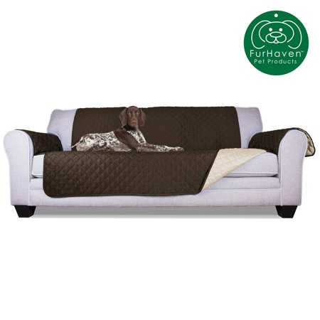 FurHaven Pet Furniture Cover | Reversible Furniture Cover Protector for Dogs & Cats, Espresso/Clay, Sofa Padded Pet Cover