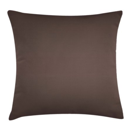 Ombre Throw Pillow Cushion Cover, Dark Chocolate Brown Color Inspired Ombre Design for Room Decorations Digital Print Image, Decorative Square Accent Pillow Case, 18 X 18 Inches, Brown, by Ambesonne