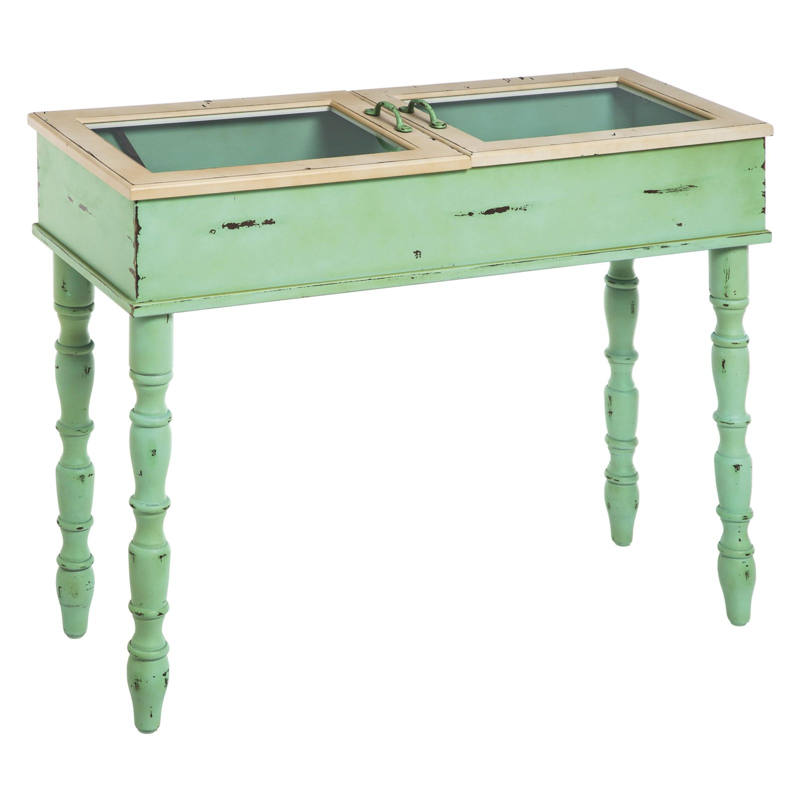 Evergreen Enterprises Sofa Table with Two Opening Glass Doors