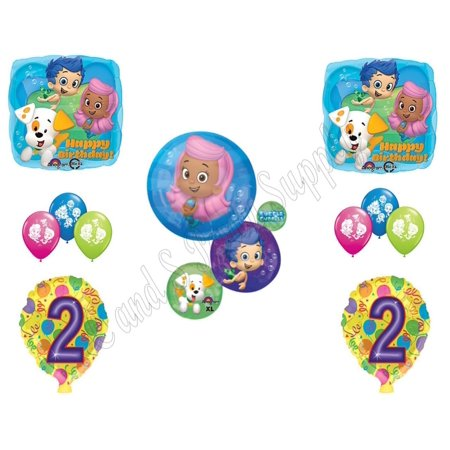 BUBBLE GUPPIES 2nd Second Birthday Party Balloons Decoration Supplies Mr. Grouper (Bubble Birthday Party)