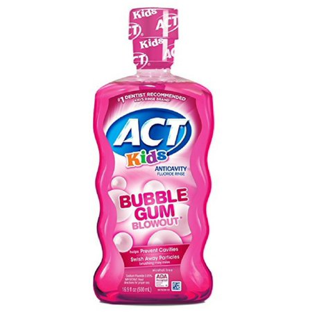ACT Kids Anticavity Fluoride Rinse, Bubble Gum Blow Out 16.9