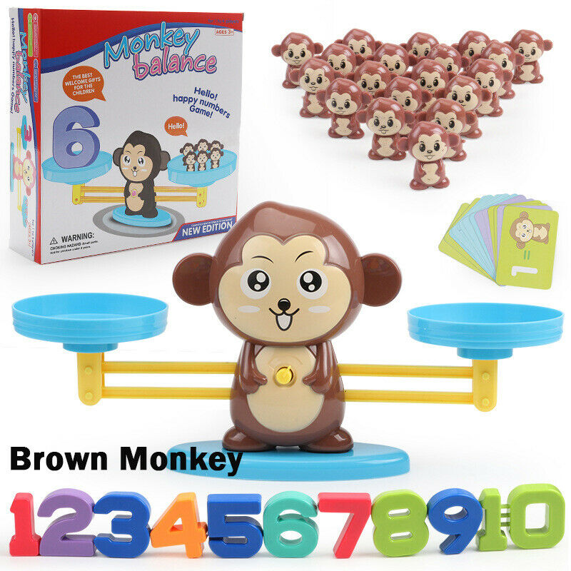 Counting Monkey Toys for Kis 3 4 5 6 Years Old Preschool Learning STEM Toys VCOSOTRE Monkey Balance Math Game Cool Number Learning Material for Math Educational
