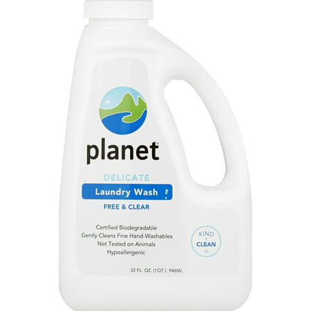 Planet Delicate Laundry Wash, Free & Clear, Certified Biodegradable, 32 oz.