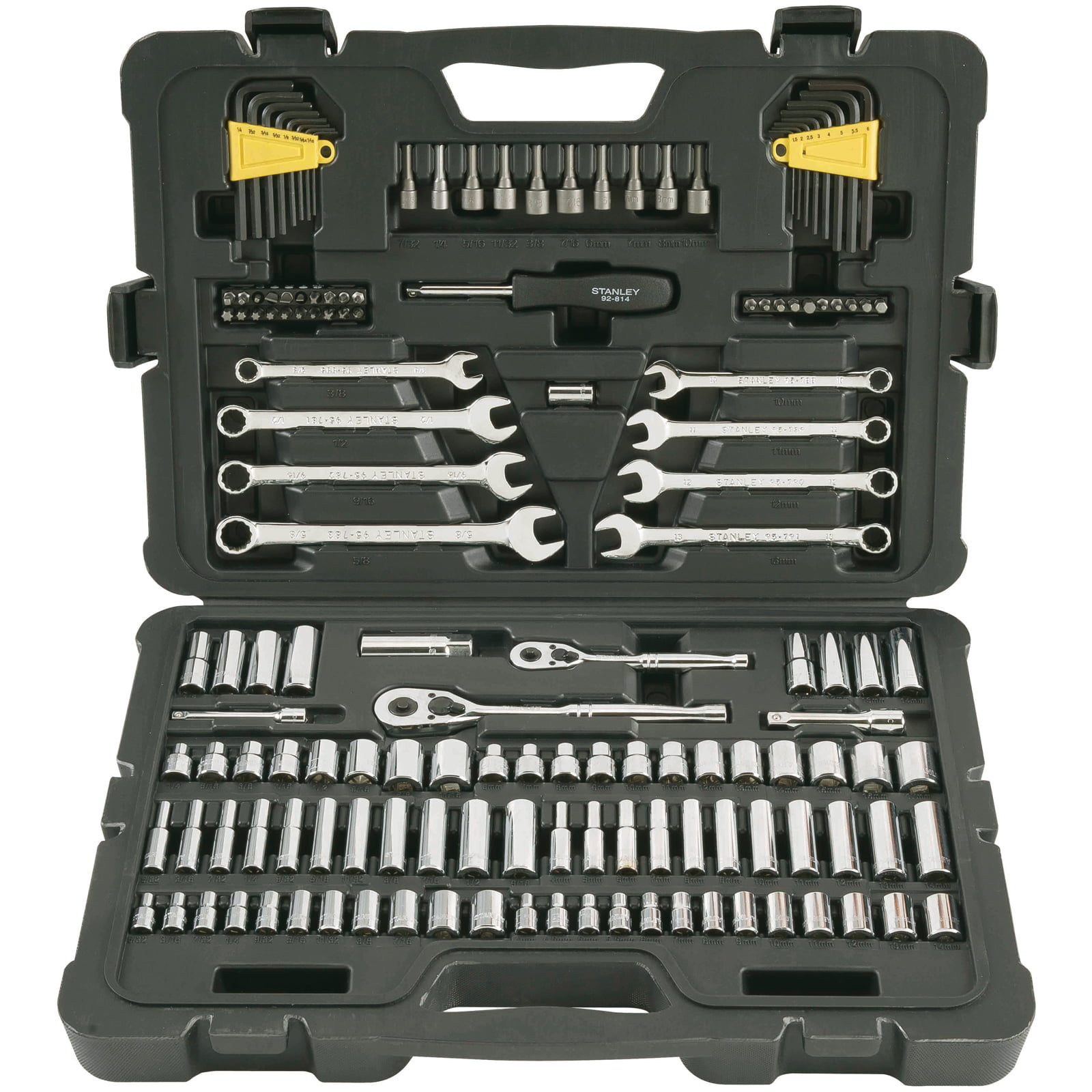 STANLEY 145-Piece Mechanics Tool Set, Chrome | STMT71653 by Stanley Black & Decker