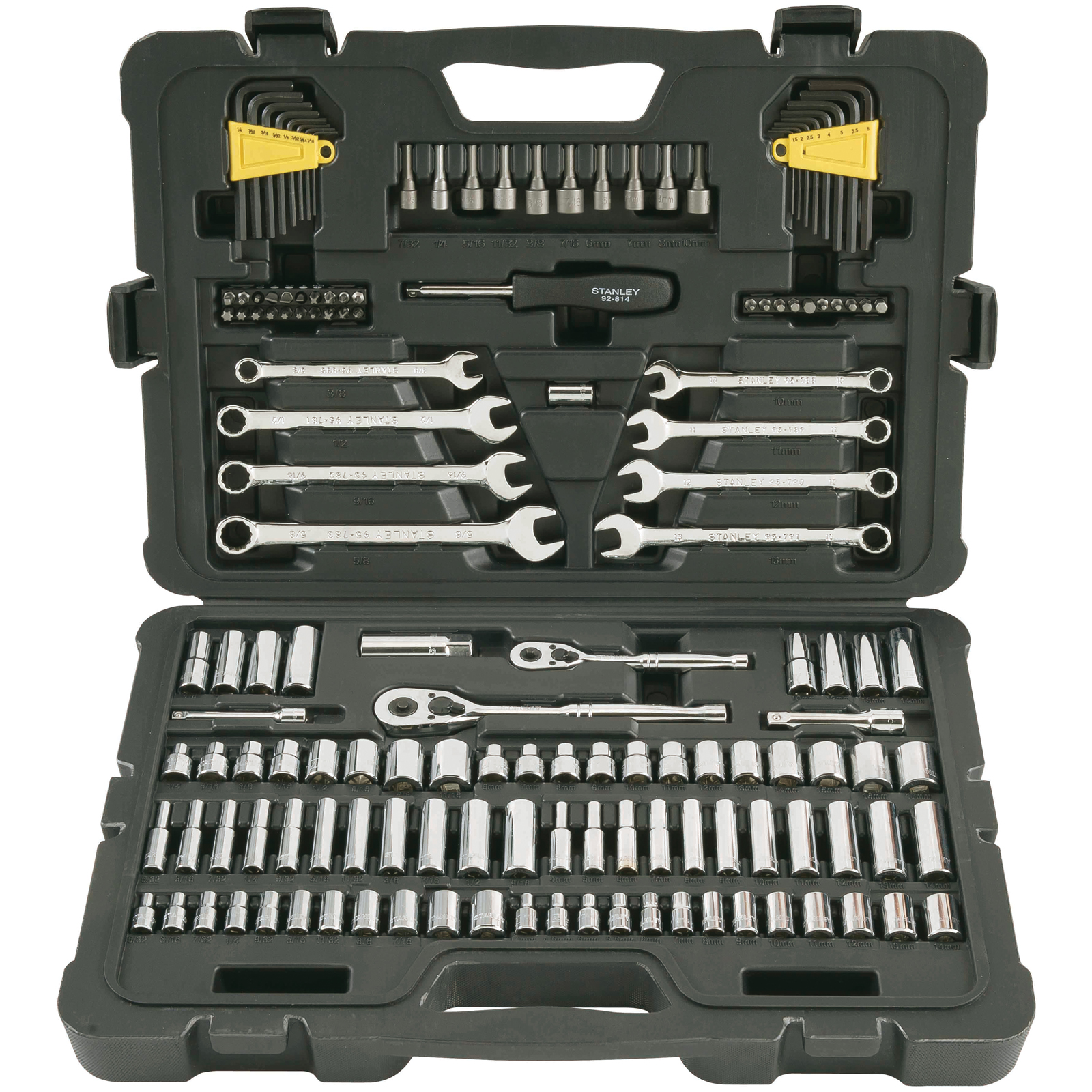 STANLEY 145-Piece Mechanics Tool Set, Chrome | STMT71653