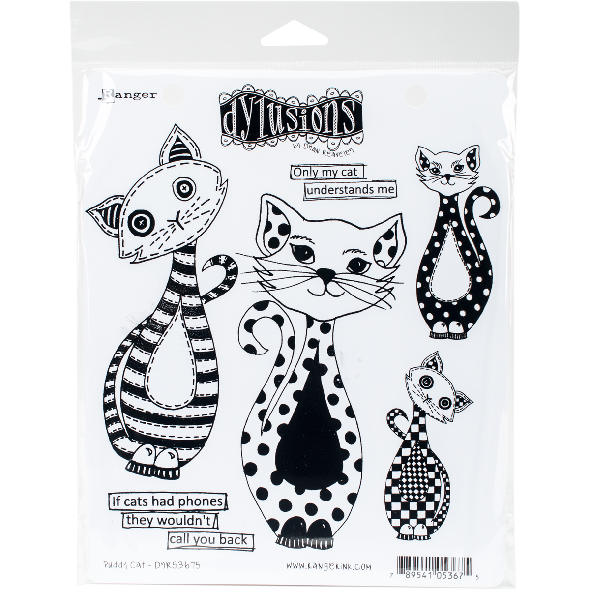 """Dyan Reaveley's Dylusions Cling Stamp Collections 8.5""""X7""""-Puddy Cat"""