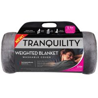 Tranquility Temperature Balancing Weighted Blanket with Washable Cover, Multiple Weights