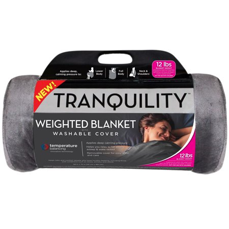 Tranquility Temperature Balancing Weighted Blanket with Washable Cover, 12 lbs