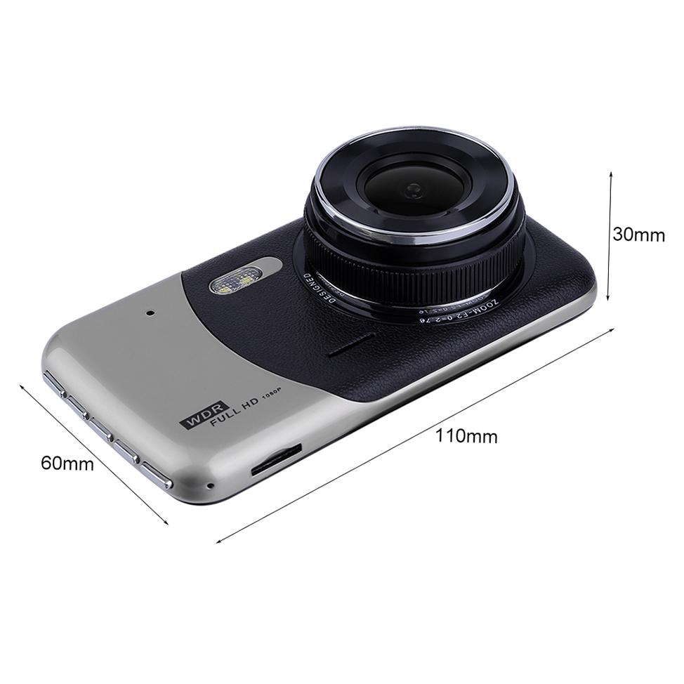4 Inch 1080P Dual Lens Camera Car DVR Parking Recorder Night Vision Dash