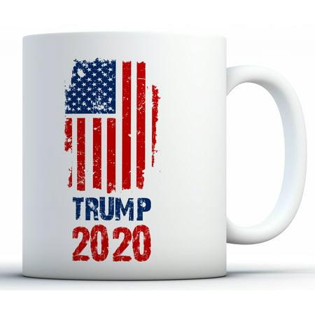 Awkward Styles Trump 2020 Flag Mug Trump Flag 2020 Coffee Mug Republican Gifts for Men and Women Donald Trump Mug President Trump Gifts for Coffee Lovers USA Trump Flag Coffee (Best Gifts For Coffe Lovers)