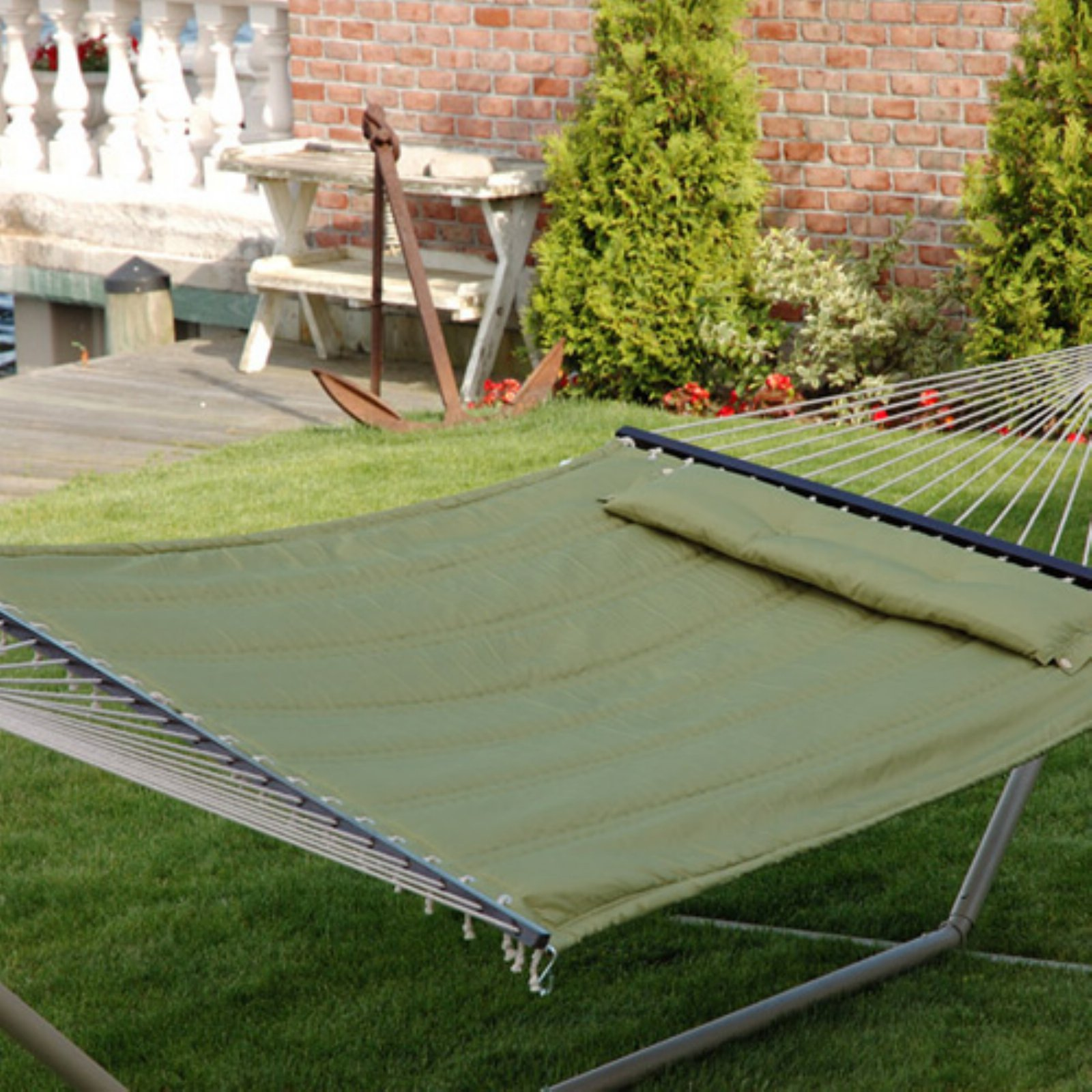 "BLISS Hammock Quilted w\pillow poly with ""S"" stitch"