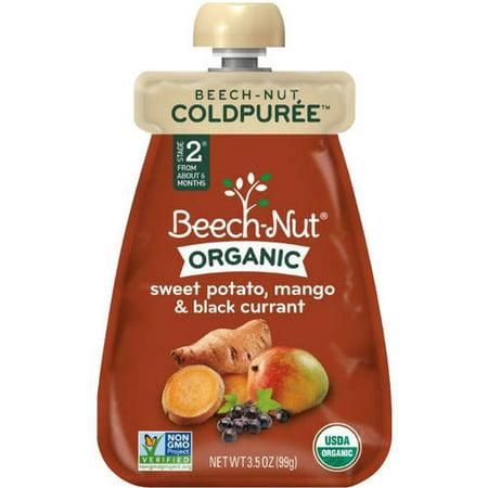 Beech Nut Organic Stage 2 Coldpuree Sweet Potato  Mango   Black Currant Baby Food  3 5 Oz   Pack Of 12