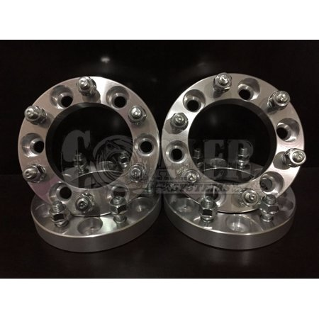"4pc GMC 6x5.5 (6x139.7) 1"" 6 Lug Wheel Spacers Adapters Trucks Billet CHEVY Set"
