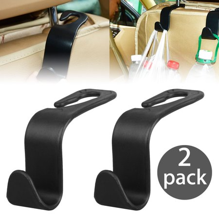 2x Strong Car Seat Headrest Hook Backseat Purse Hanger Bag Cloth Hanging - Holder Hanging
