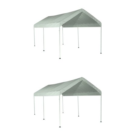 ShelterLogic Max AP 10'x20' Straight 6 Leg Large Outdoor Pop Up Canopy (2 Pack)