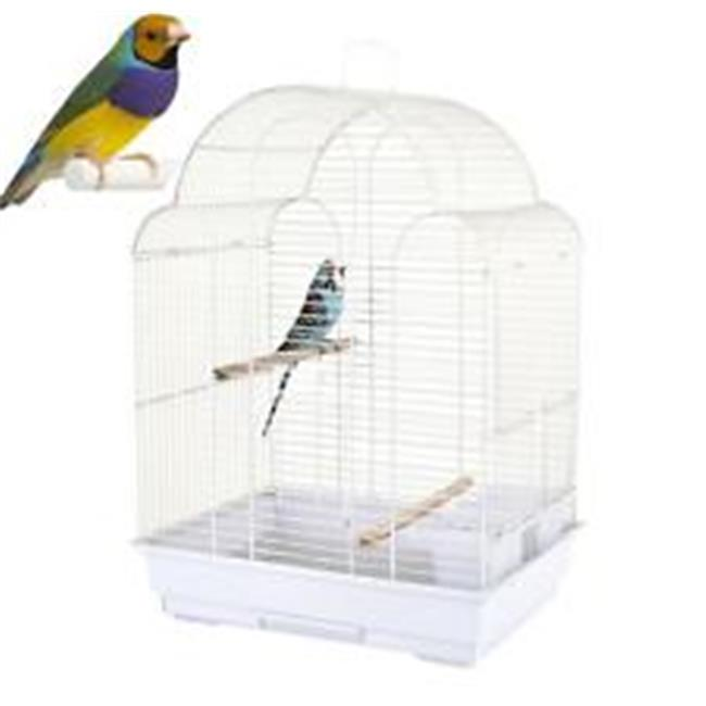 YML 5834-4814WHT 0.67 in. Bar Spacing Small Parrot Cage, White - 18 x 14 in.