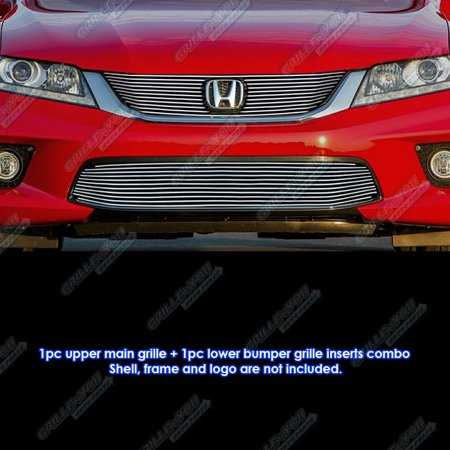 Honda Accord Billet Grille - Fits 2013-2015 Honda Accord Coupe Billet Grille Combo #H61263A