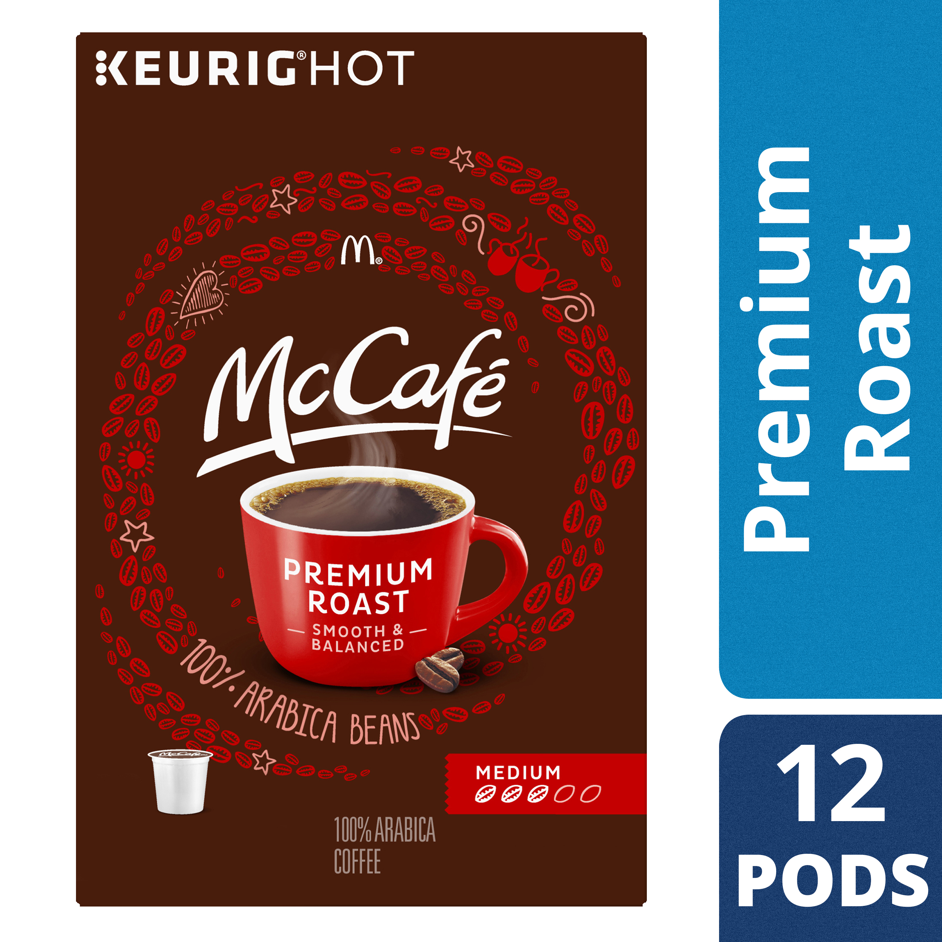 McCafé Premium Roast Coffee K-Cup Pods, 12 count