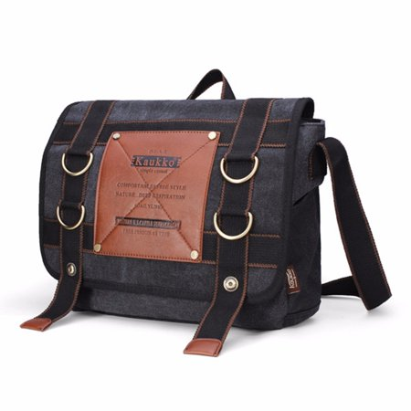 ae9ad3d0597bd Men's Retro Canvas Travel Outdoor Shoulder Bag School Messenger Bags Handbag  - Walmart.com