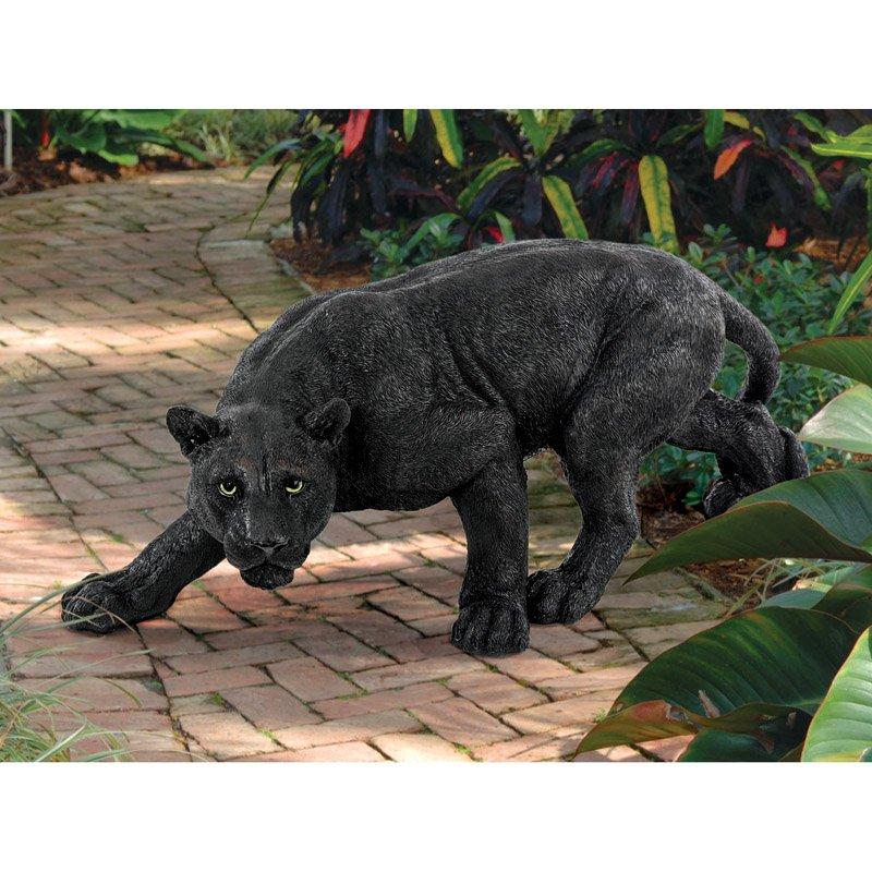 Design Toscano Shadowed Predator Black Panther Garden Statue