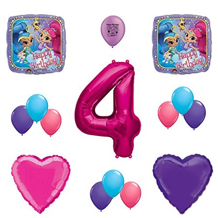 Shimmer and Shine 4th Birthday Party Balloon Decoration Kit - Shine Party