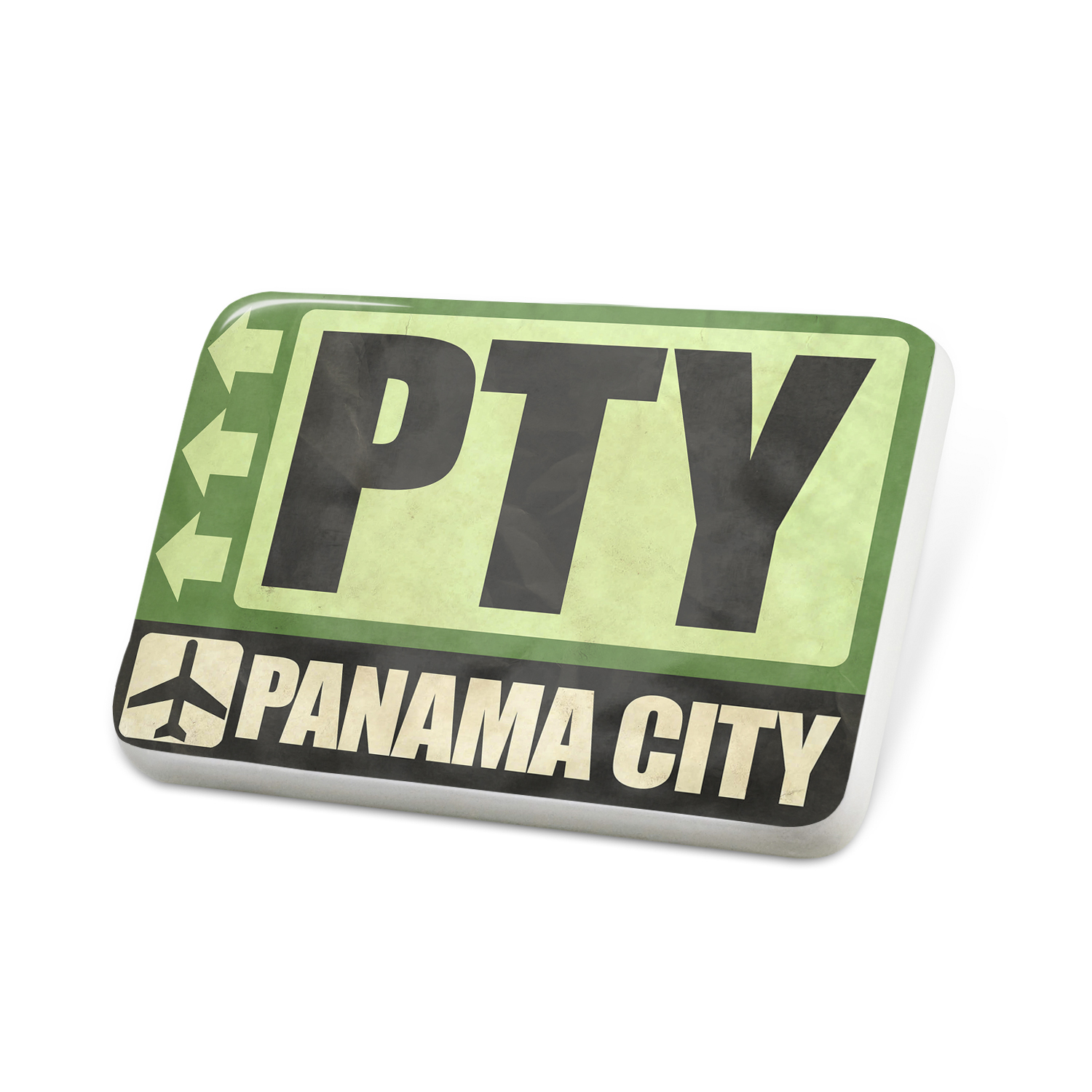 Porcelein Pin Airportcode PTY Panama City Lapel Badge – NEONBLOND
