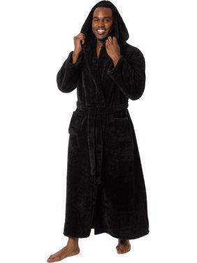 Ross Michaels Mens Luxury Hooded Full Length Big and Tall Long Bath Robe