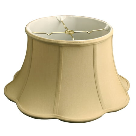 "Royal Designs 15"" Out Scallop Bell Lamp Shade Antique Gold"