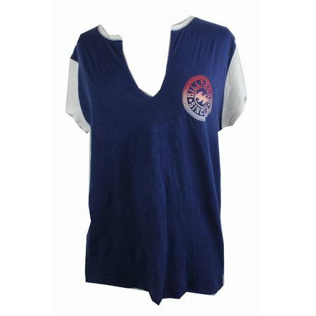 Billabong Print Jersey (Billabong Navy White Trim Baseball Jersey T-Shirt)