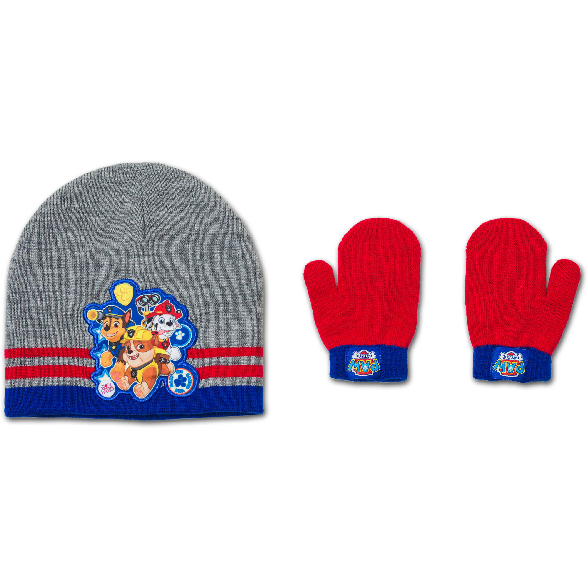 Paw Patrol  Baby Toddler Boy Hat and Mitten Set
