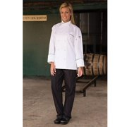 4003-2702 Yarn Dyed Baggy Chef Pant in Red and white Pinstripe - Small