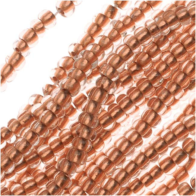 "Czech Seed Beads 11/0 ""Crystal Copper"" Mix Foil Lined (1 Hank/4000 Beads)"