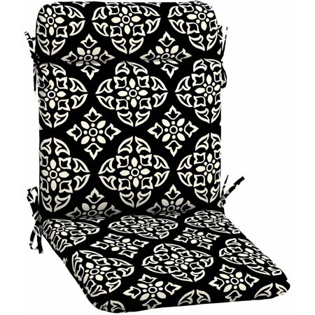 Better Homes & Gardens Black and White Medallion Outdoor Patio Wrought Iron Chair Pad, 21