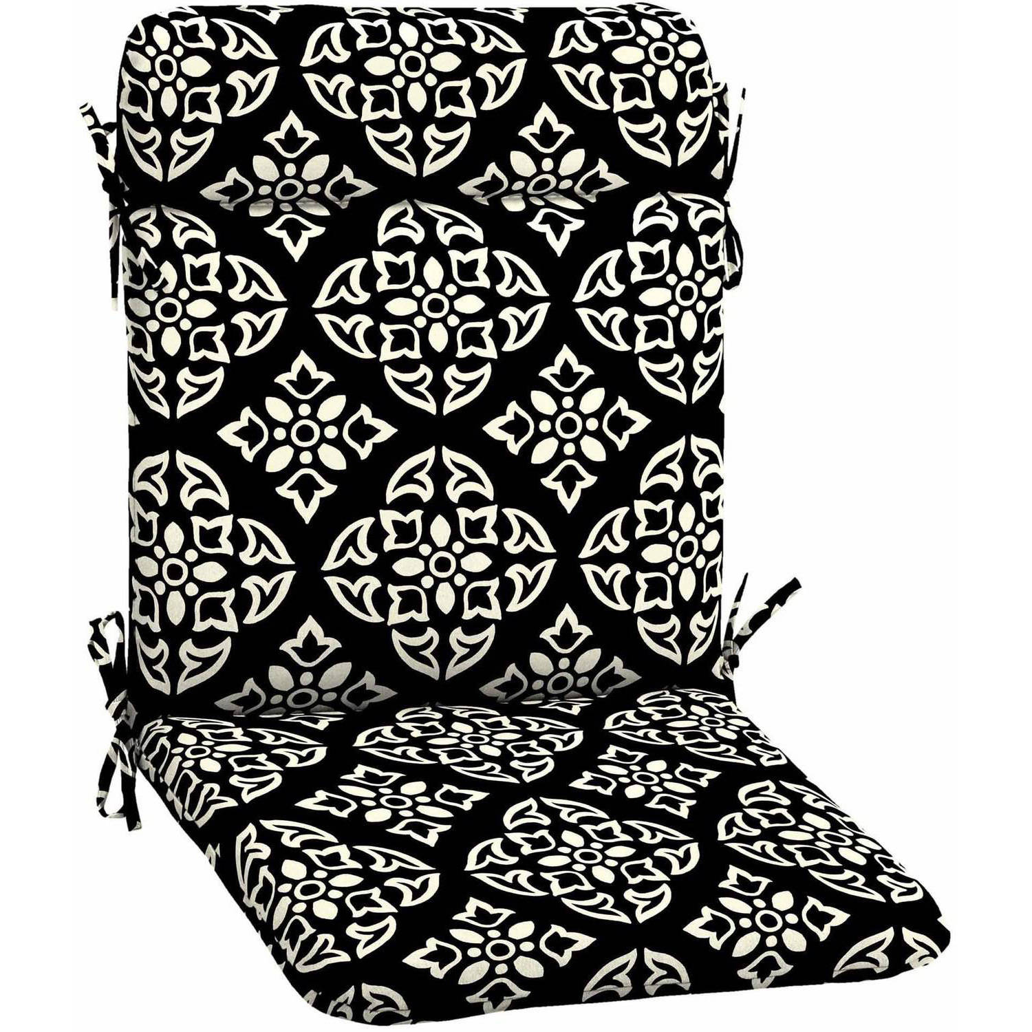 Merveilleux Better Homes And Gardens Outdoor Patio Wrought Iron Chair Pad, Black White  Medallion