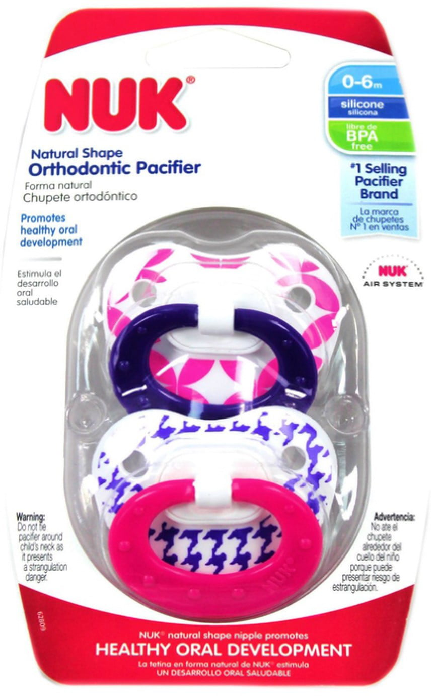 NUK Orthodontic Pacifier, 0-6 Months, 1 ea (Pack of 6) by NUK