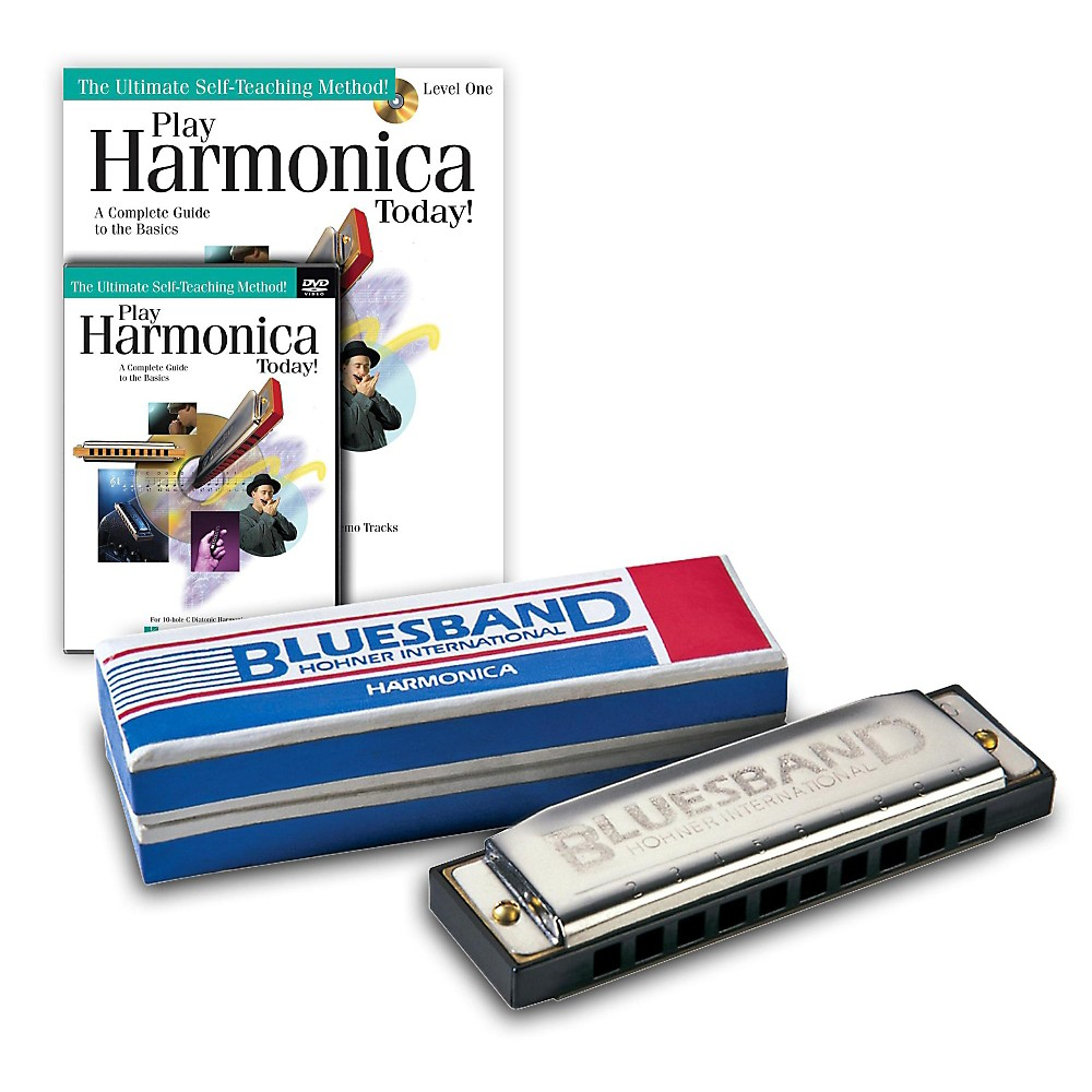 Hohner Blues Band 1501 C Harmonica and <em>Play Harmonica Today!< em> Pack Kit C by Hohner