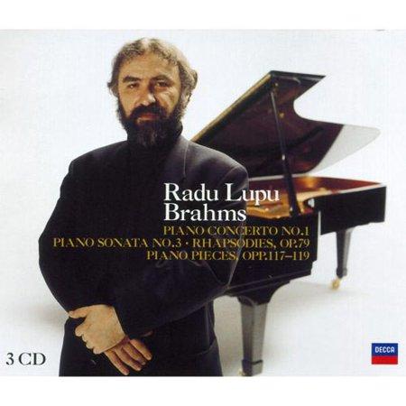 Radu Lupu   Brahms  Piano Concerto No  1  Piano Sonata No  3  Rhapsodies  Op  79  Piano Pieces  Opp  117 119  Cd