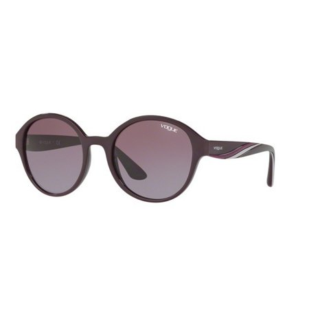 Vogue Women's VO5106SF 24188H 56 Round Plastic Purple Violet (Womens Purple Oakley Sunglasses)