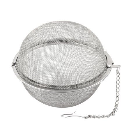 Stainless Steel Brewing Tea Leaves Mesh Locked Infuser Stainer Filter 7cm Dia - image 3 of 3